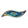 Resin Sew-on Piikki Stones 10pcs 14x47mm Silouhette Royal Blue Aurora Borealis